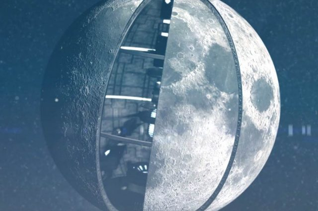 Is the Moon an artificial object created by a highly advanced race of aliens? This was suggested decades ago by Soviet scientists and despite the obvious scientific evidence against it, this theory still has supporters in modern days. Credit: Insh World