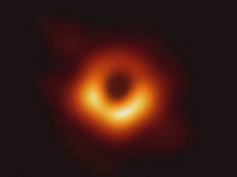 This was the first-ever image of a black hole taken by the Event Horizon Telescope. Credit: NASA