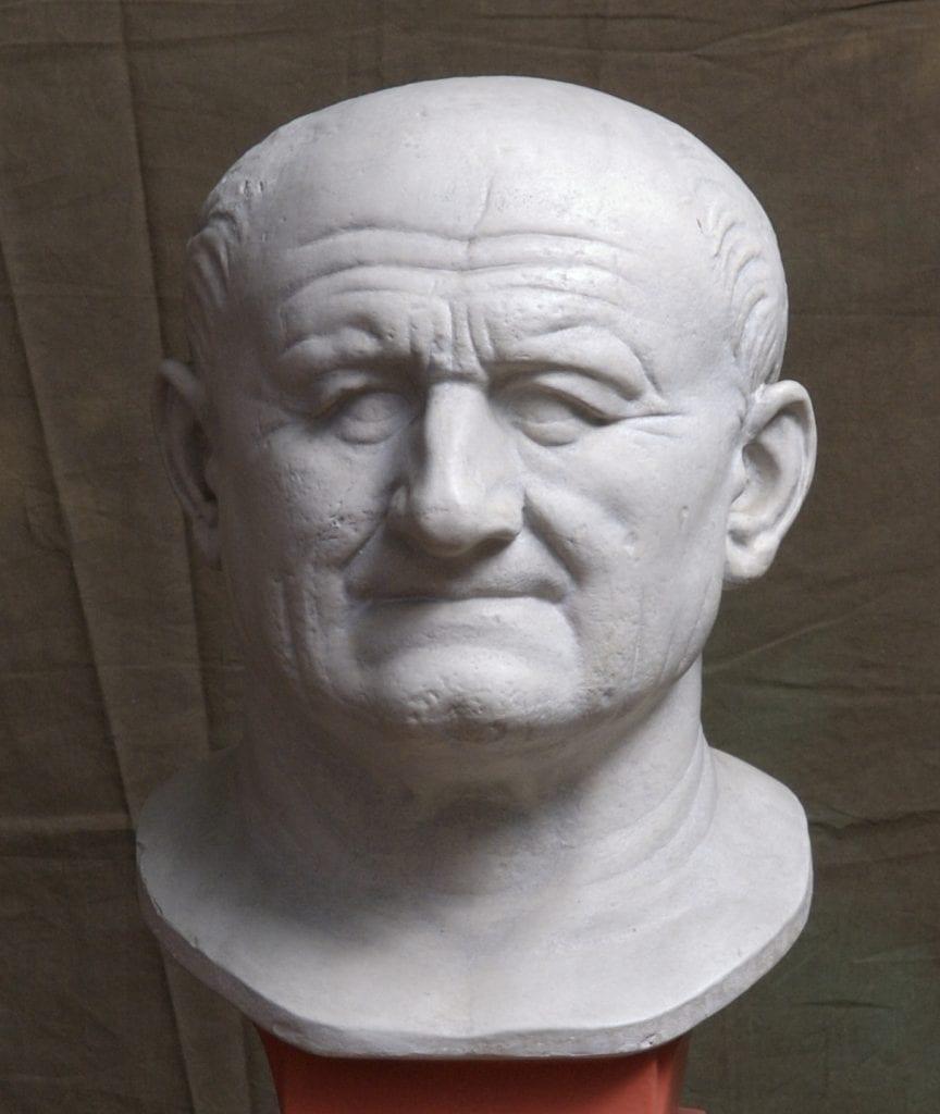 Bust portrait of Emperor Vespasian. Credit: University of Cambridge
