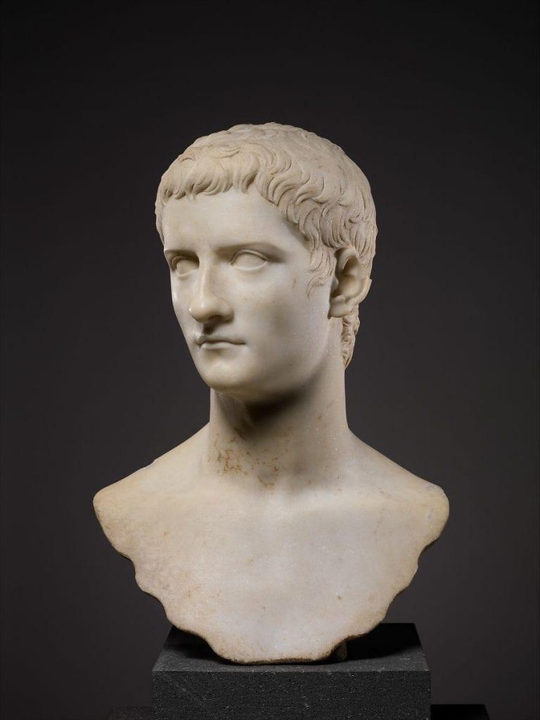 A beautiful marble bust of Roman Emperor Caligula. Credit: Met Museum