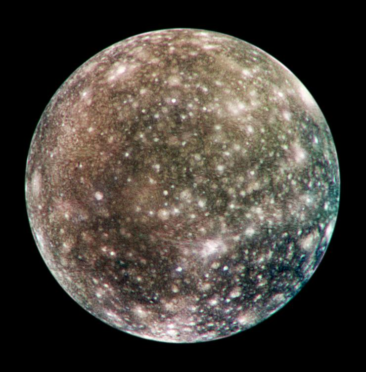NASA's image of Callisto, unfortunately, not in the greatest quality. Credit: NASA