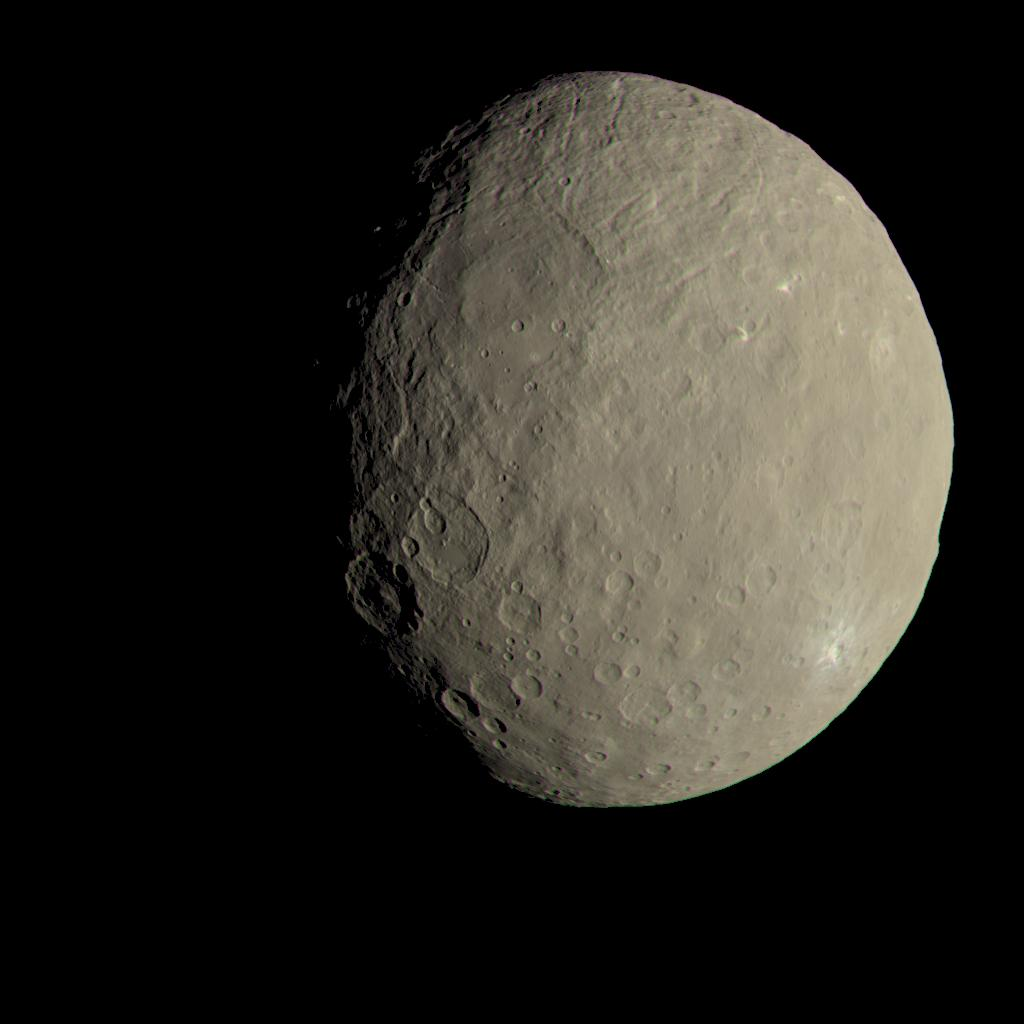 This is approximately how Ceres would appear to the naked eye if we were able to see it in person. With this said, could there be life forms on Ceres? Recent discoveries suggest it and we will surely hear a lot more about Ceres in the future years. Credit: NASA