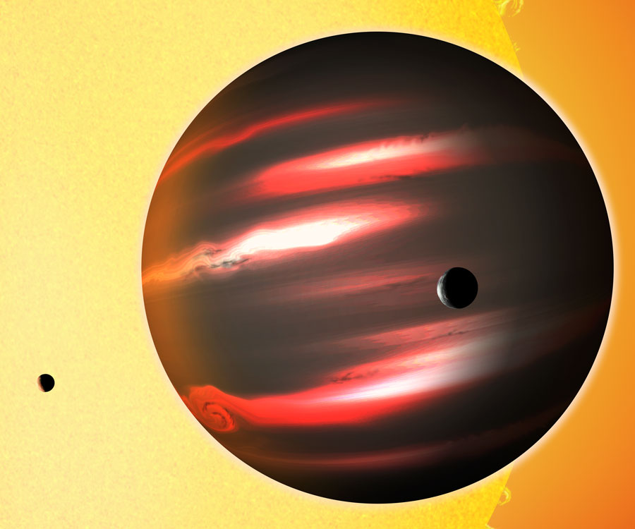 Is this the most terrifying planet ever? A planet where light almost doesn't exist. Source: NASA