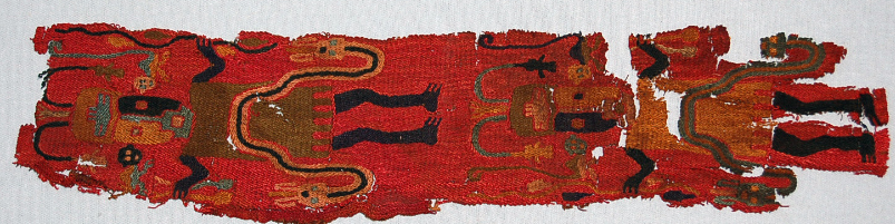 Cloth, presumably a scarf. Source: British Museum