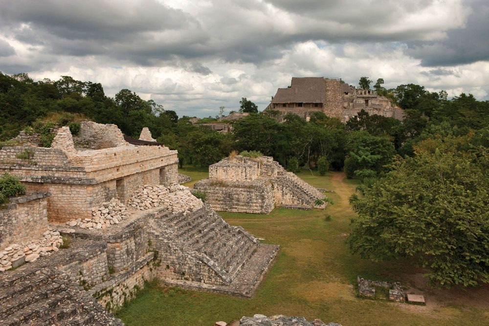 Mayan structures in Ek Balam. Credit: Instituto Nacional de Antropologia e Historia