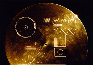 The golden record's cover