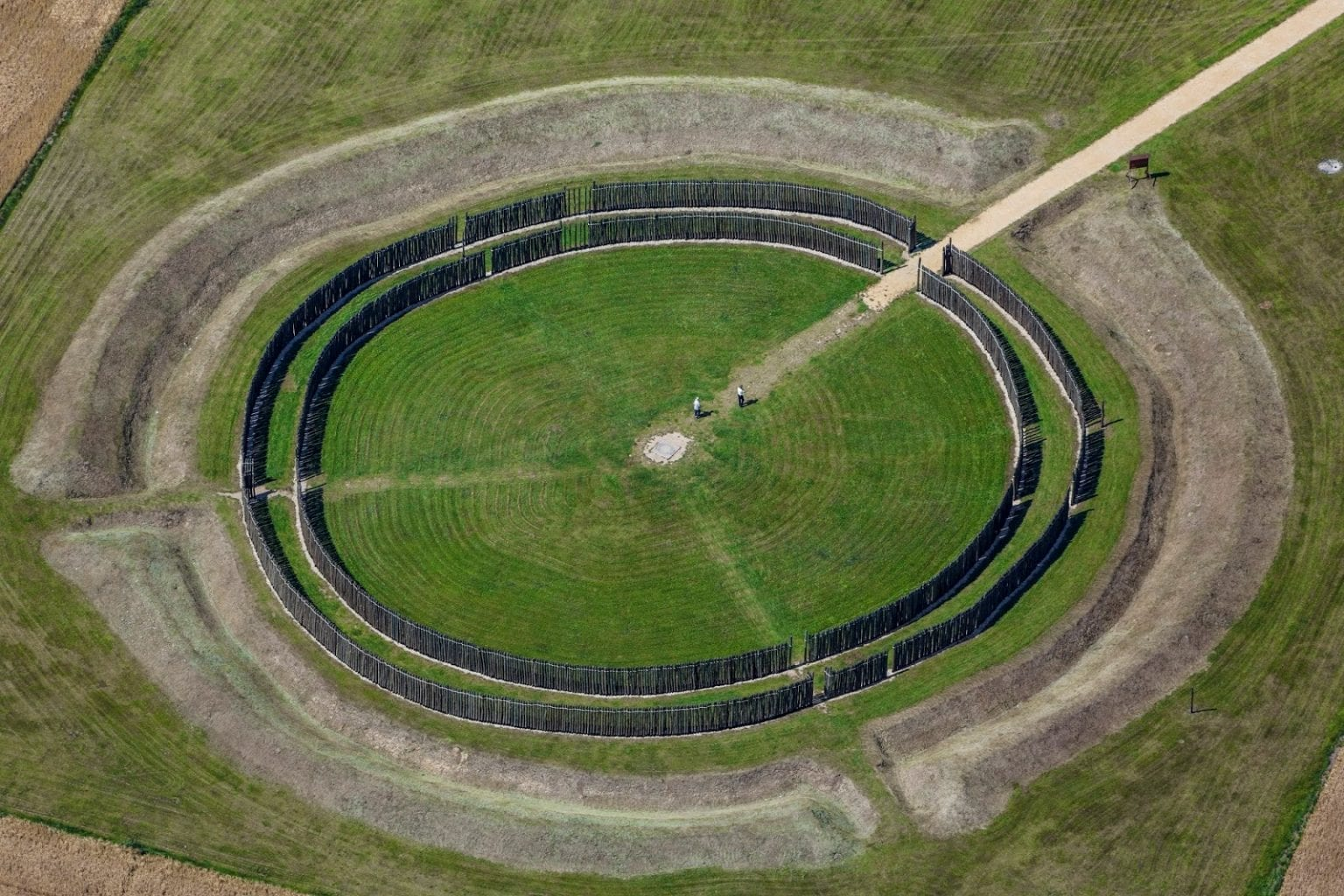 The ancient structure in Germany - the Goseck Circle.