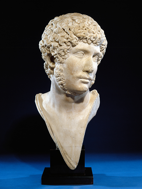 Magnificent marble bust of Emperor Hadrian. Credit: Museum of Art and Archaeology Missouri