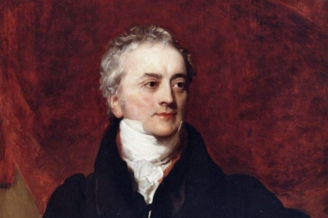 Jean Champollion portrait painted by Henry Briggs in 1822.