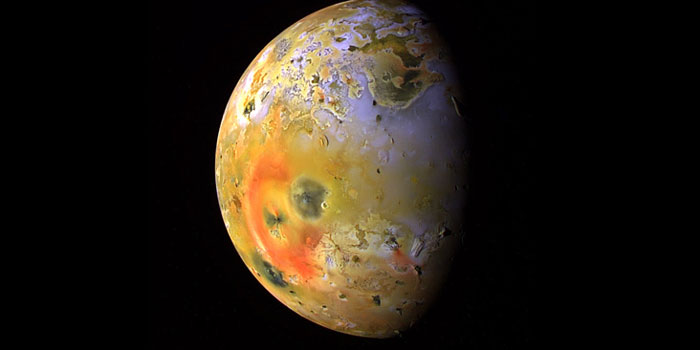 The Volcanic Moon called Io. Source: NASA