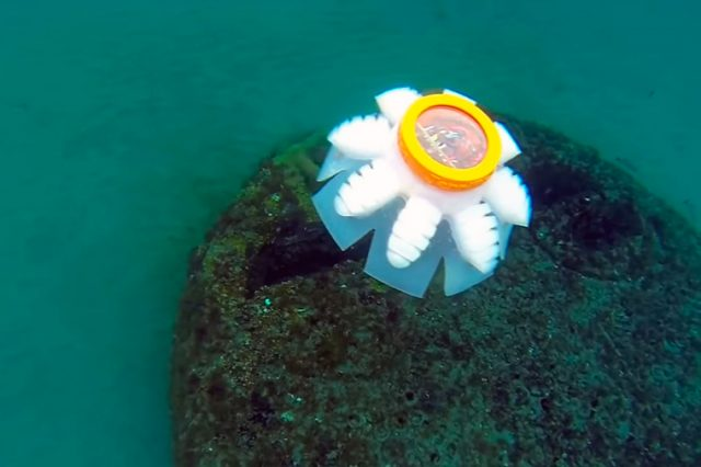 The original prototype of the Jellyfish Robots revealed in 2018.