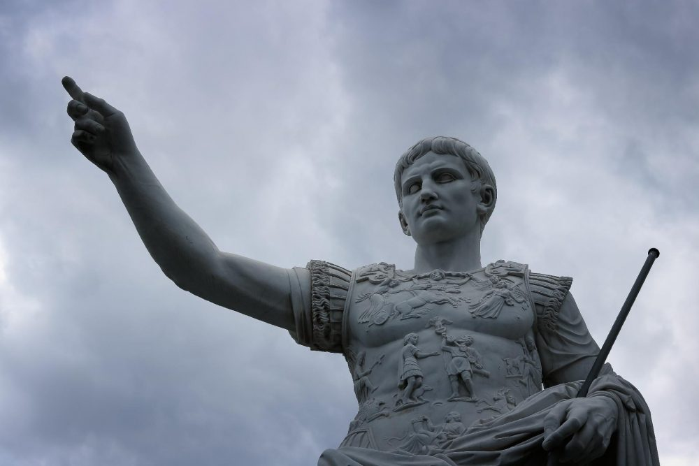 The statue of an ancient Roman emperor. Jumpstory.