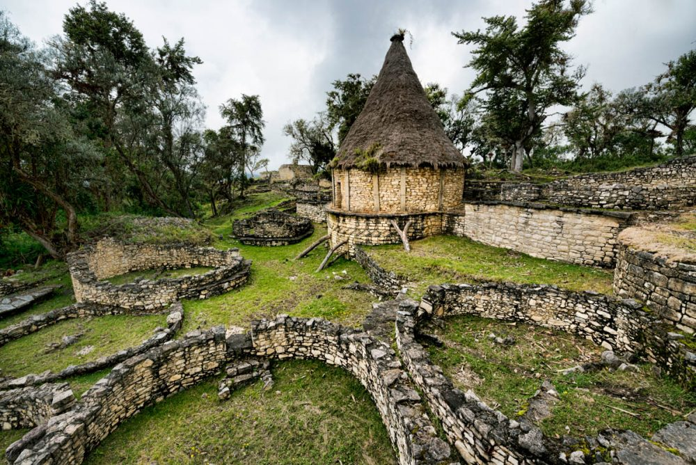 Ruins in one of the most magnificent archaeological sites in Peru - Kuelap.