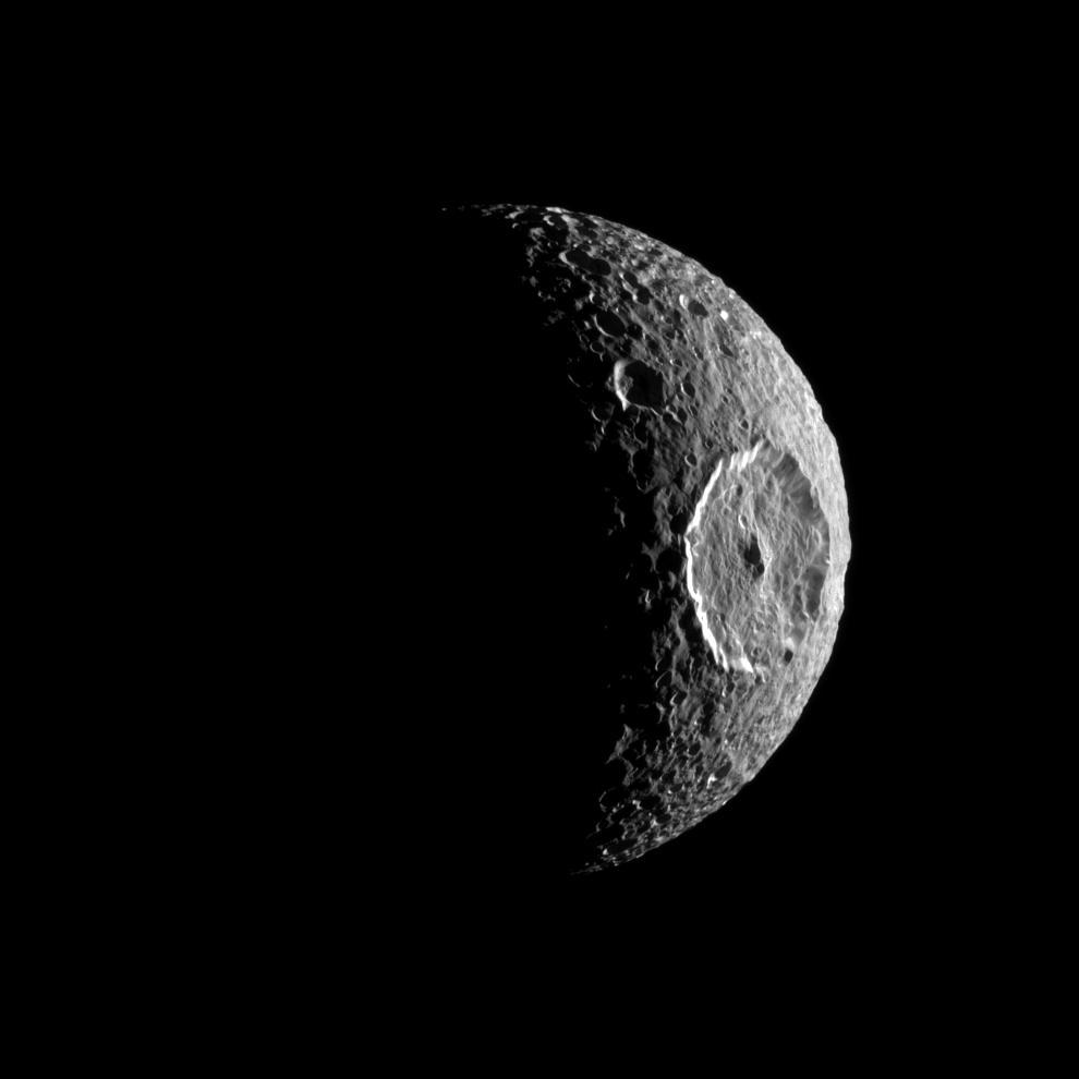 The Herschel crater on Mimas. Source: NASA