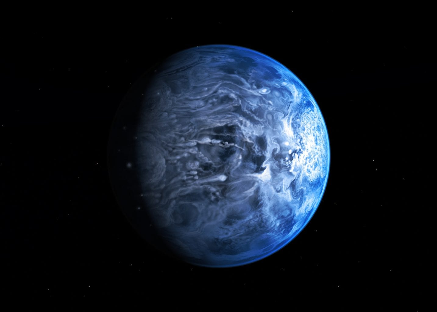 Exoplanet HD 189733b by NASA, the terrifying planet with endless rains of glass. Source: NASA