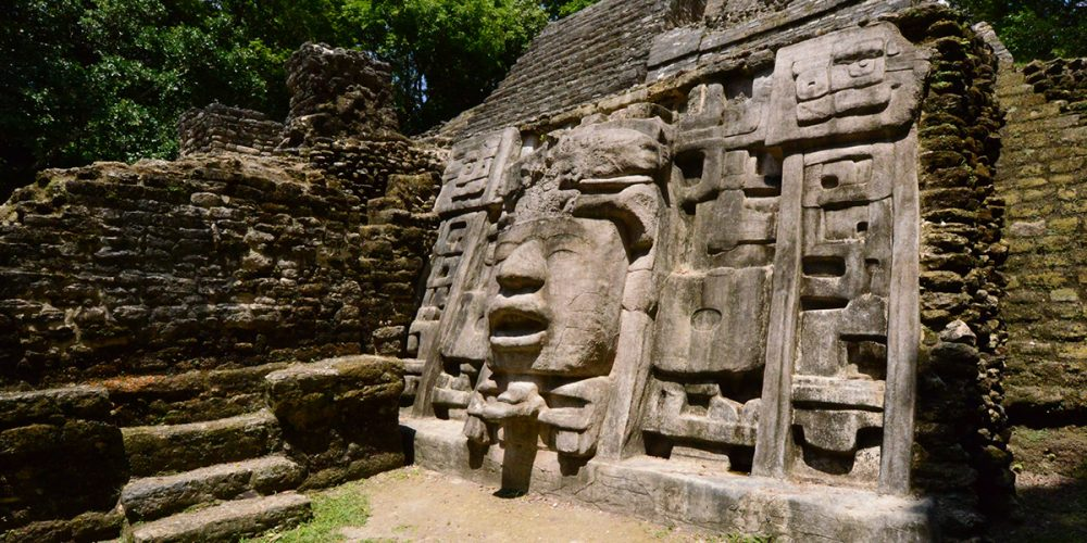 Temple of the Mask in the ancient site of Lamanai. Credit: Visit Centro America
