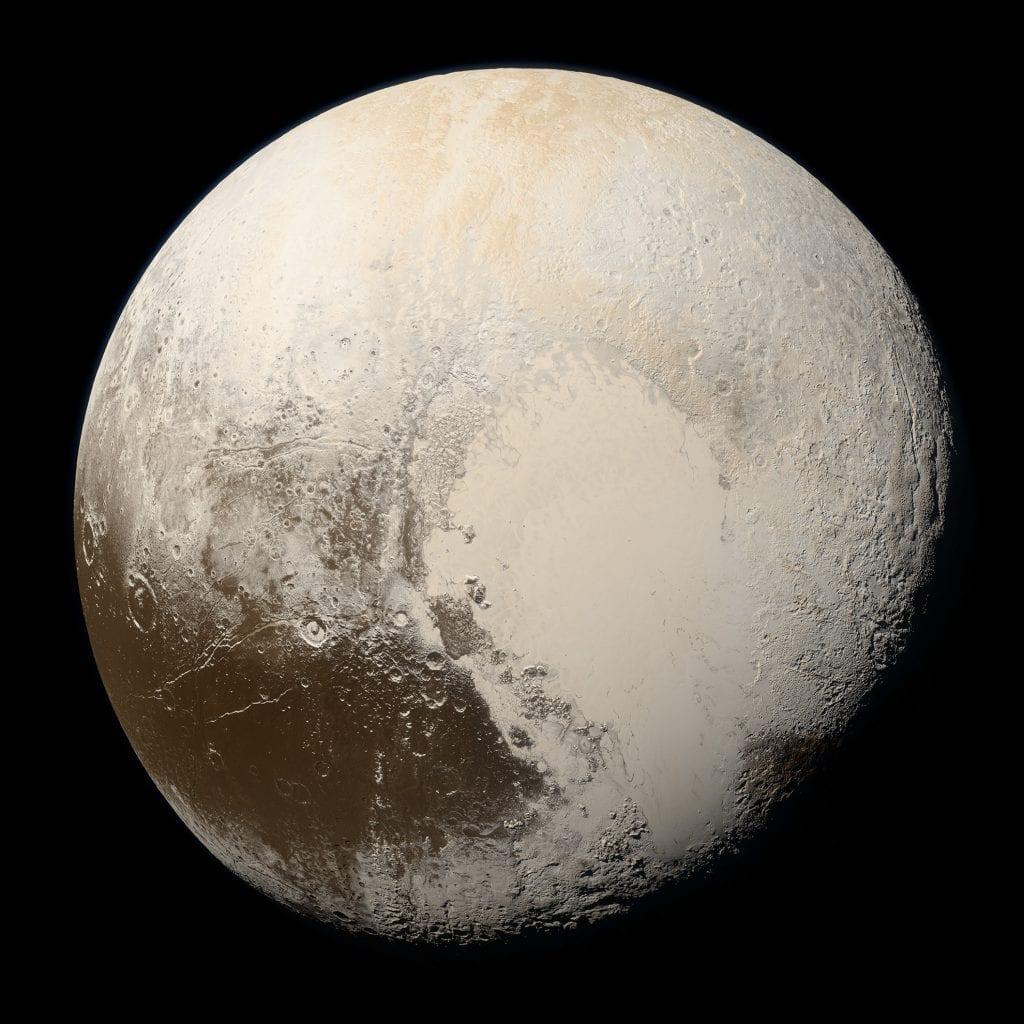 The true colors of Pluto. Credit: NASA