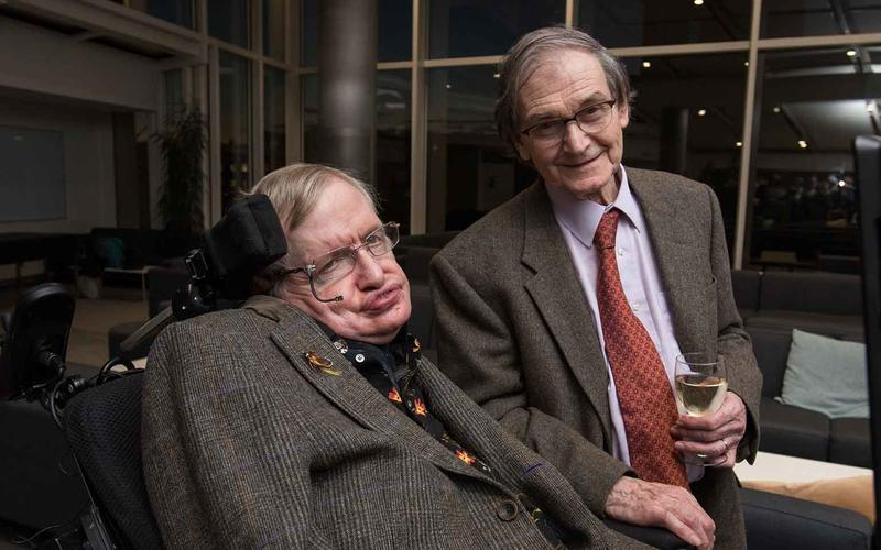Roger Penrose and Stephen Hawking, two supporters of the black hole energy future. Credit: IAI TV