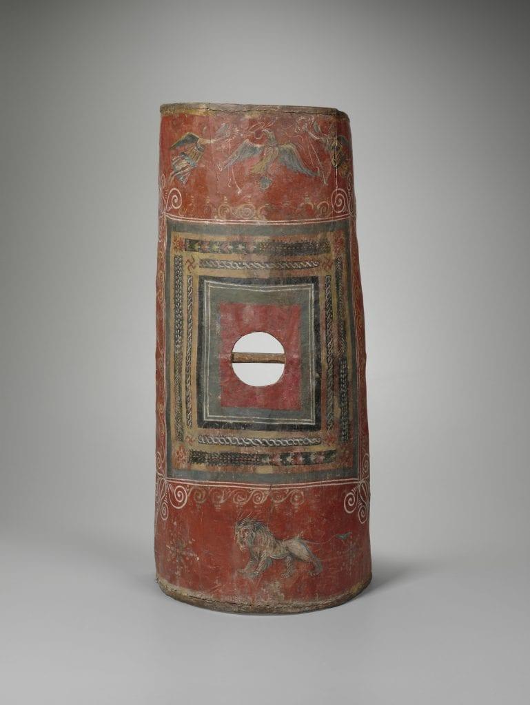 An ancient scutum, the shield of all Roman legionaries.