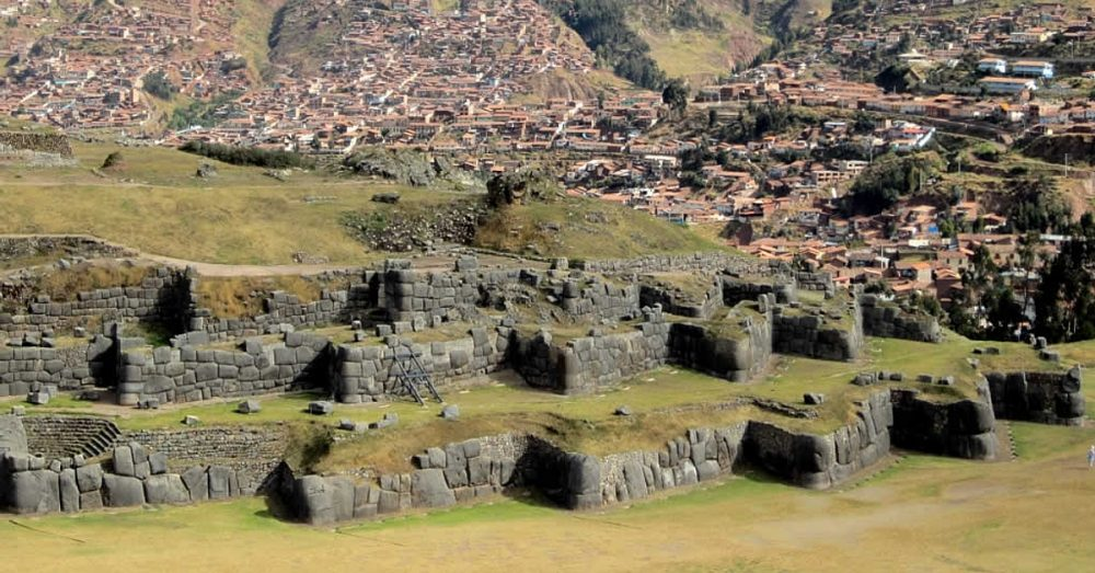 The largest Inca structure - the Sacsayhuaman fortress.