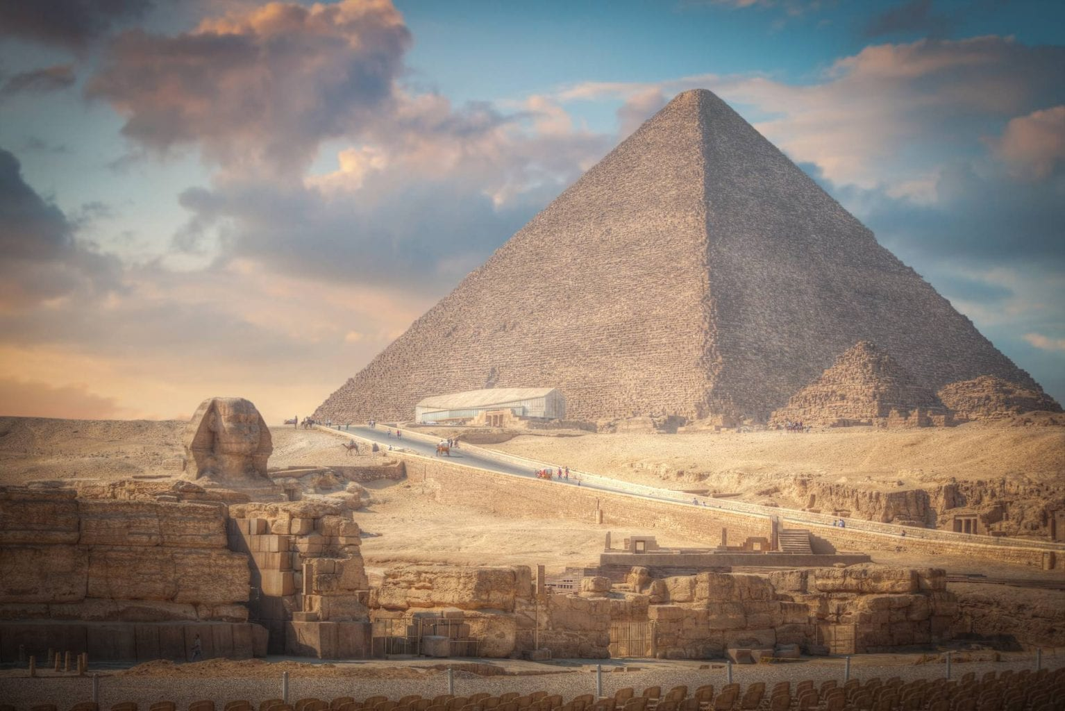 The most famous monument in the world - the Great Pyramid of Giza.
