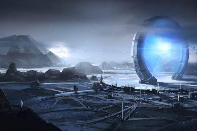 An artist's rendering of a highly advanced civilization. Shutterstock.