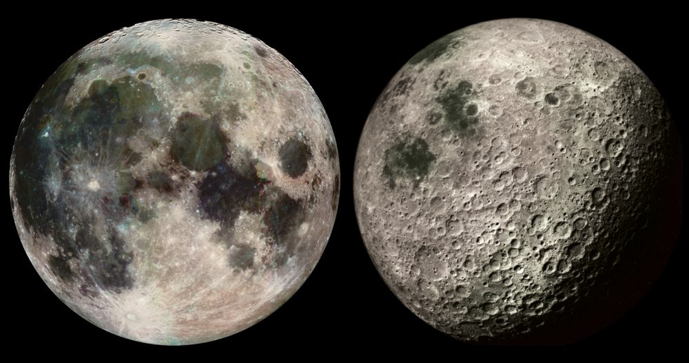 An image of both sides of the Moon.