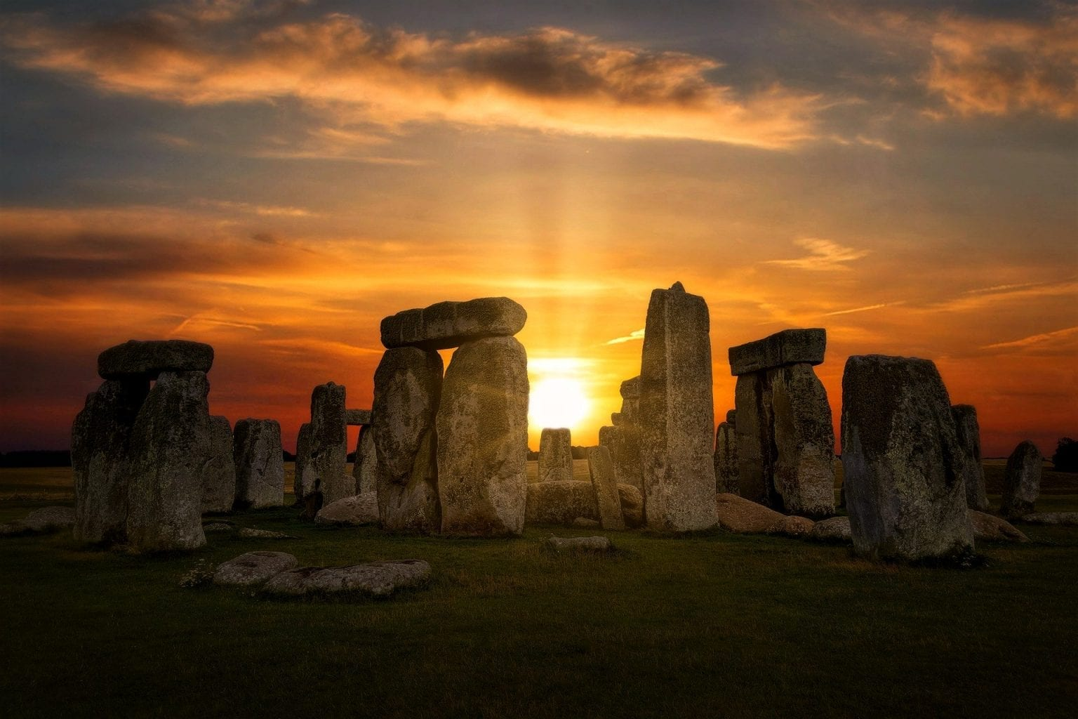 The summer solstice at the famous ancient monument of Stonehenge.