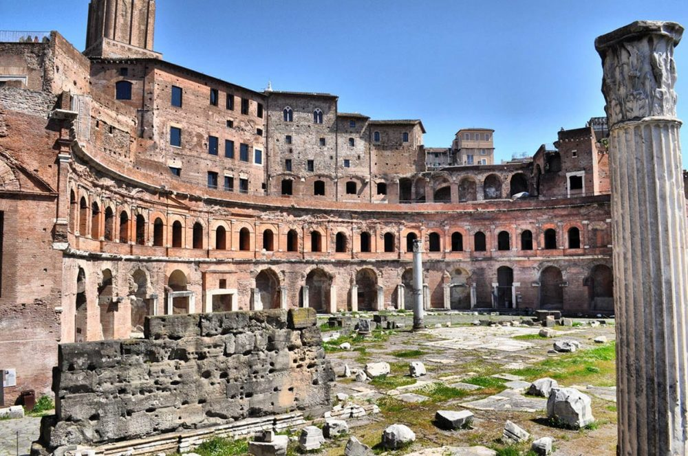 Trajan's Market, the oldest shopping mall in history. Located in Rome.