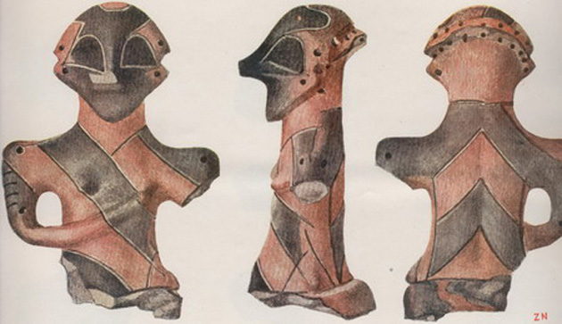 More Vinca statuettes, again with atypical shapes.