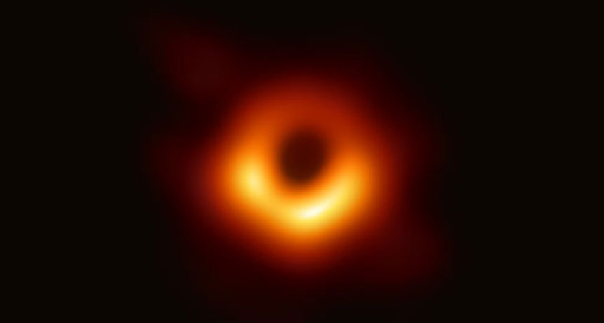First-ever photograph of a black hole in the galaxy M87. Credit: EVENT HORIZON TELESCOPE COLLABORATION