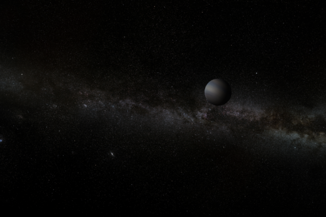 Artist's conception of a Jupiter-size rogue planet.