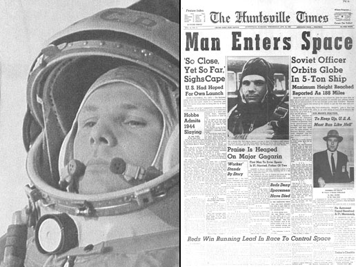 Yuri Gagarin, First Man in Space. Source: NASA