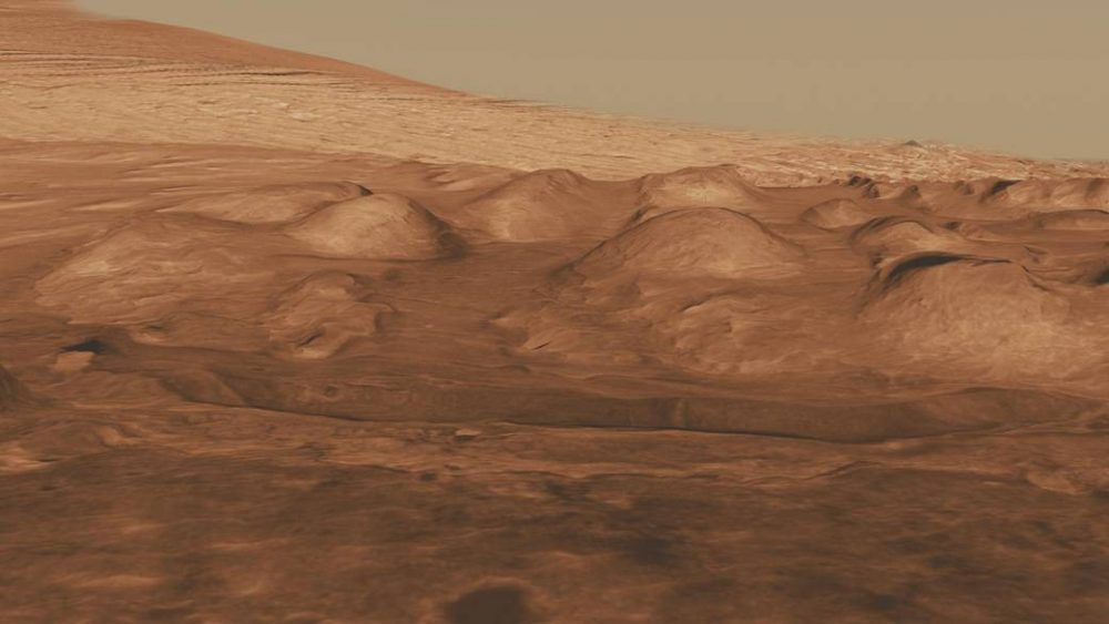 The Gale Crater today, provided by NASA. Credit: NASA/JPL-Caltech/University of Arizona