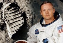 Neil Armstrong, the first person to set foot on the Moon. Source: Pinterest
