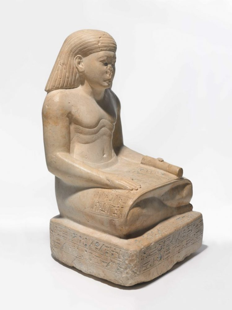 Amunhotep, Son of Nebiry, ca. 1426-1400 B.C.E. Limestone, pigment. Credit: Brooklyn Museum, Charles Edwin Wilbour Fund