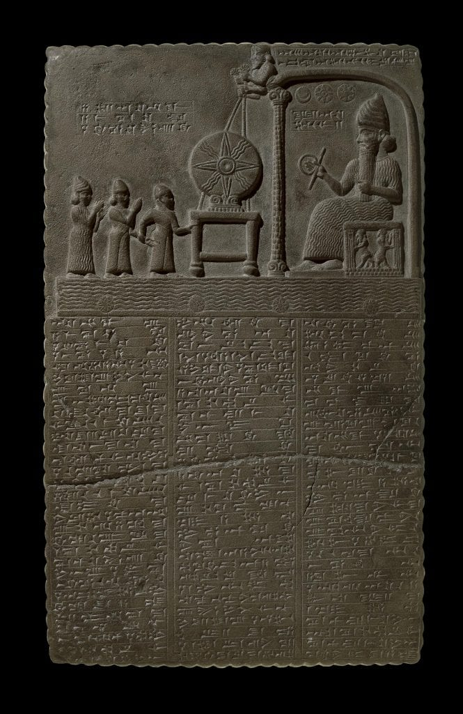 The Tablet of Shamash. You can read the explanation of the images below. Credit: British Museum