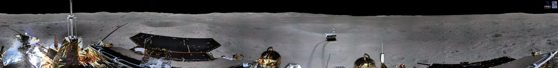 A 360-degree circular shot image from when Yutu-2 was at point A. Credit: CLEP/ Lunar and Planetary Multimedia Database