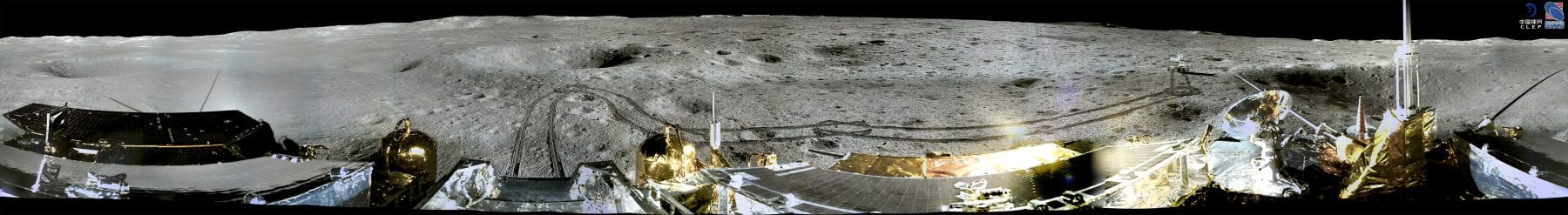 Another 360-degree circular shot image from the far side of the Moon. Credit: CLEP/ Lunar and Planetary Multimedia Database