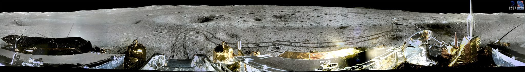 A 360-degree circular shot panorama from the far side of the Moon. Credit: CLEP/ Lunar and Planetary Multimedia Database