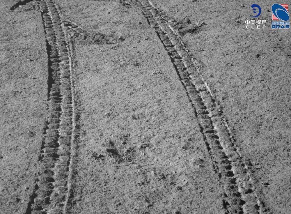 Yutu-2 rover tracks photographed on the 8th lunar day of the mission. Credit: CLEP/ Lunar and Planetary Multimedia Database