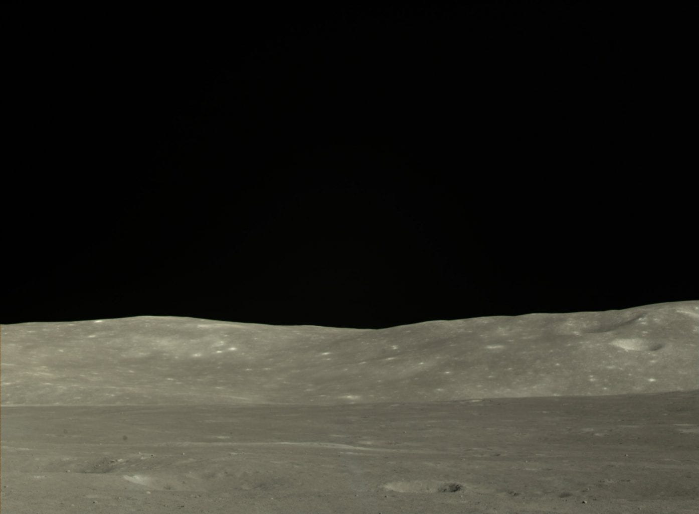 The borders of the Von Carman crater on the far side of the Moon. Credit: CLEP/ Doug Ellison