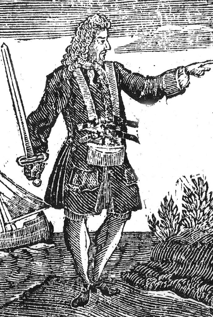 An 18th century engraving of Charles Vane. Credit: Wikipedia