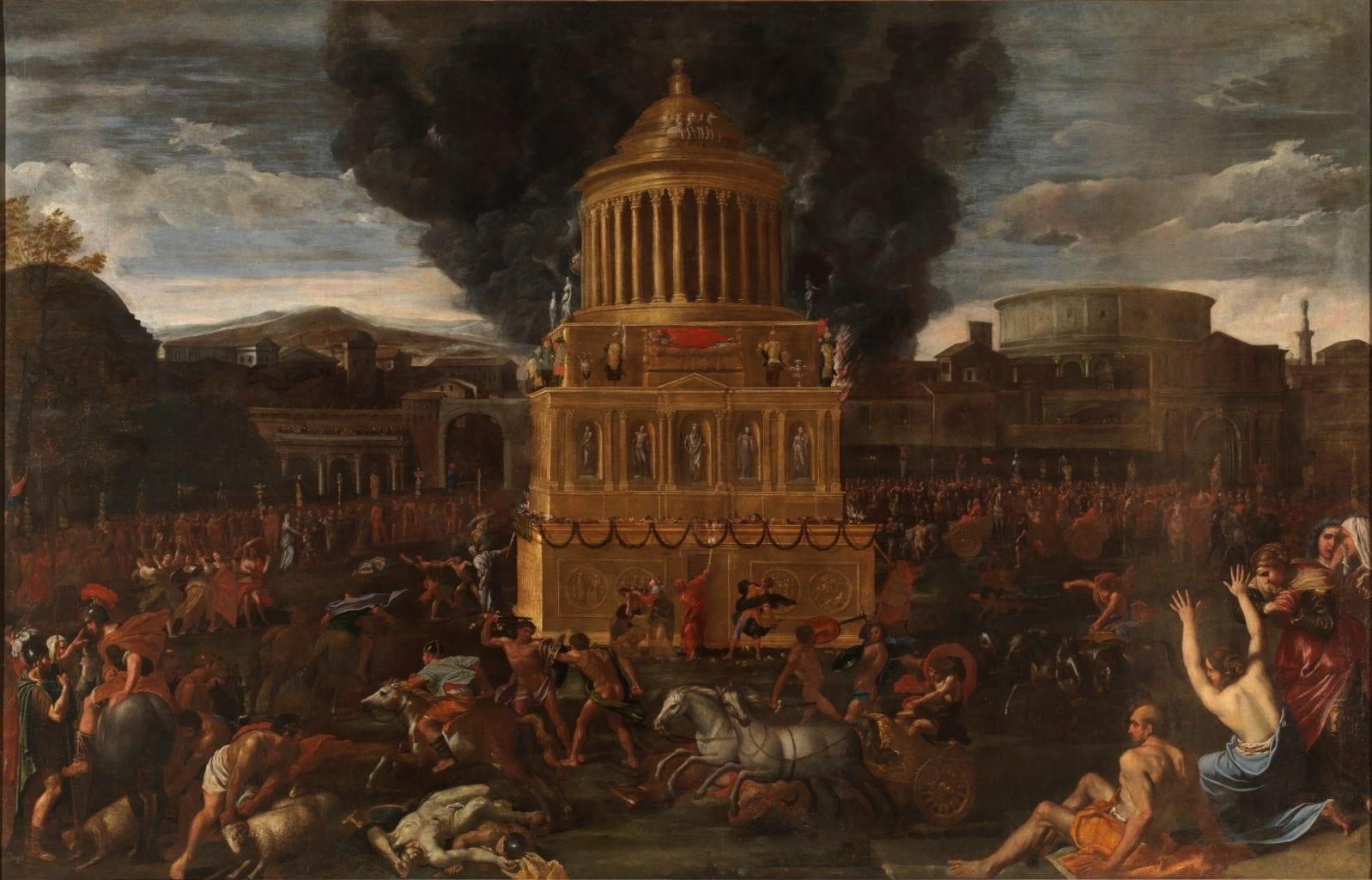 Funeral Rites for a Roman Emperor by Italian painter Domenichino. Credit: Museo Del Prado