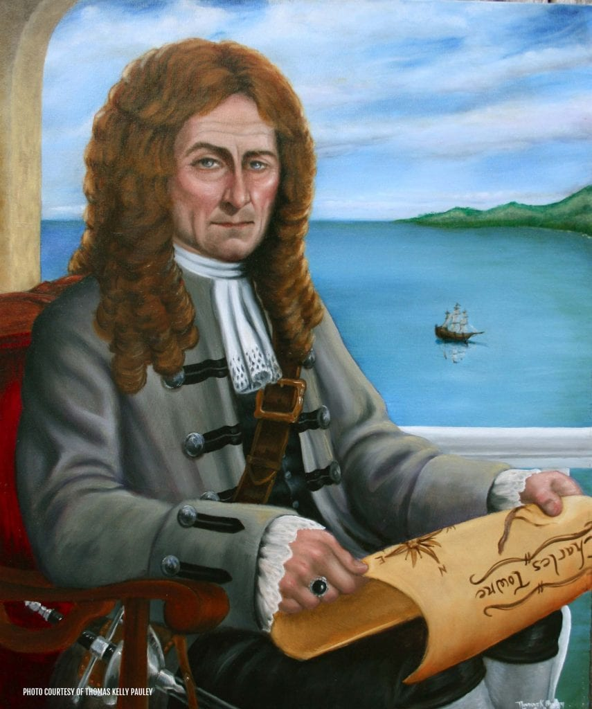 Painting of the Gentleman Pirate - Stede Bonnet. Credit: Thomas Kelly Pauley
