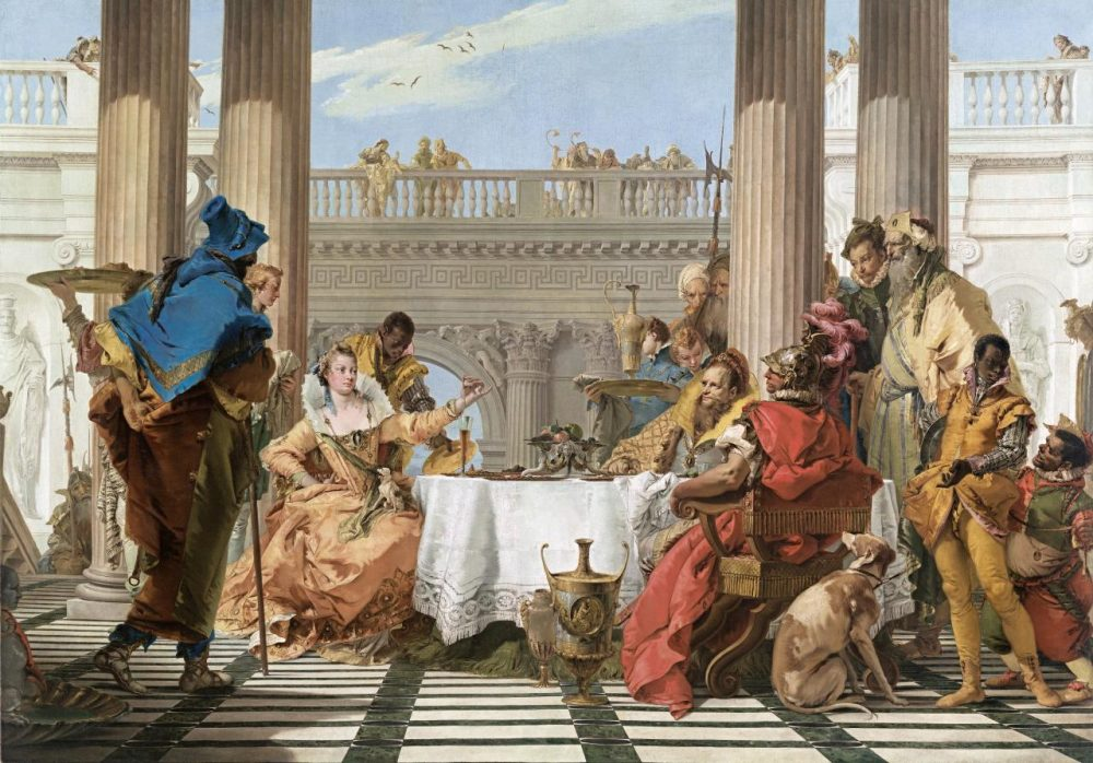 The Banquet of Cleopatra (1743-1744), oil on canvas, Giovanni Battista Tiepolo. Credit: Google Arts And Culture