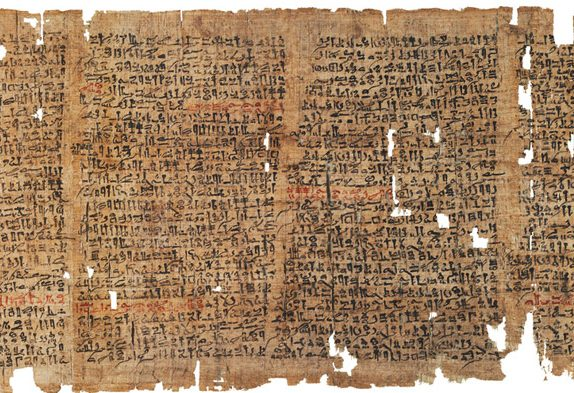 Sheets of the Westcar Papyrus, one of the most curious ancient Egyptian papyri mentioning magic. Credit: rhbarnhart.net