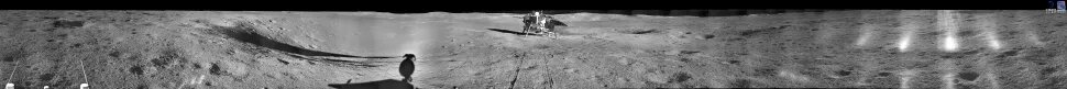 The largest panorama released by the Chinese. What we know is that this is an older photograph from the time when the Yutu-2 rover was still close to the Chang'e 4 lander. Credit: CNSA/CLEP