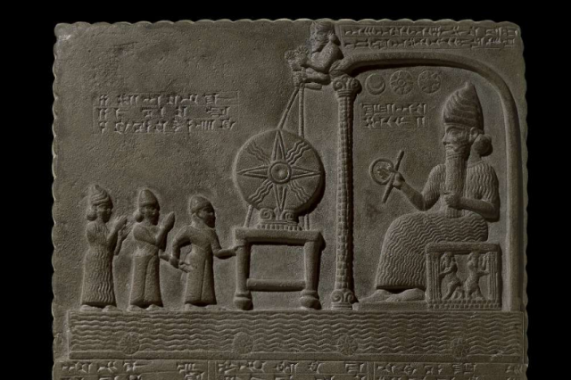 Does the tablet of Shamash contain evidence of advanced ancient technologies? Credit: British Museum