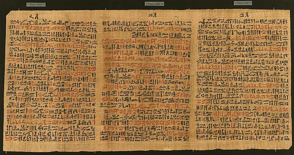 The Ebers Papyrus - one of the most important medical papyri to this day. Credit: Curiosmos